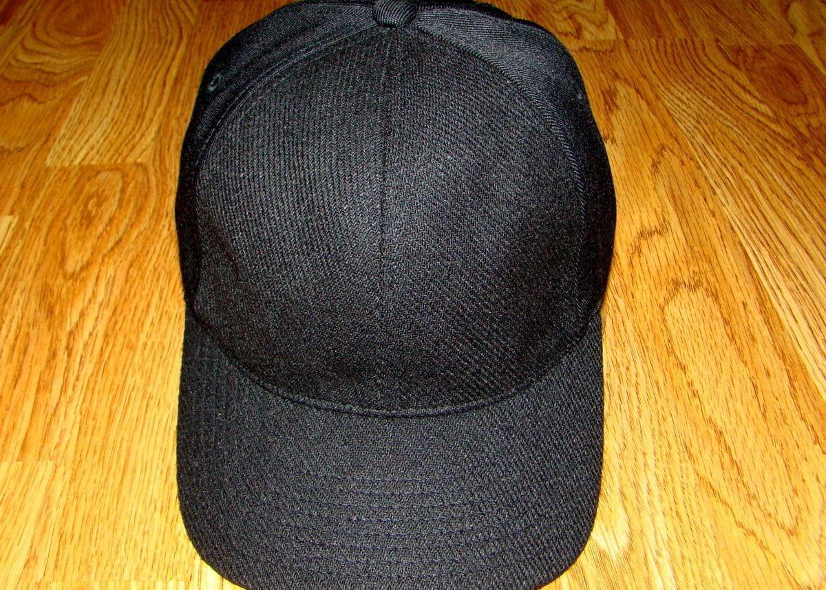 Black  Kangol  Textured  Wool  Flexfit  Baseball  Cap