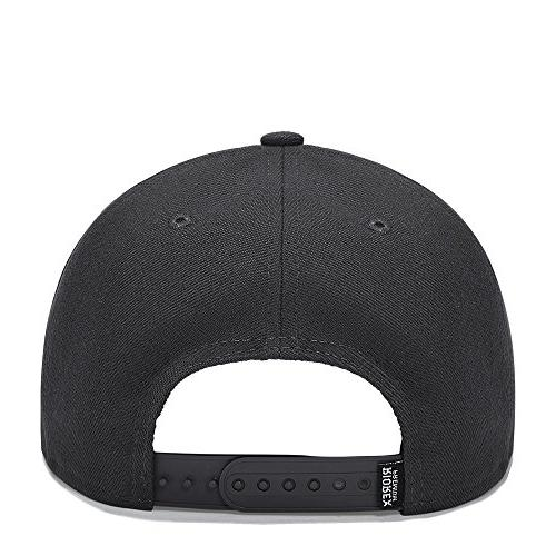 Riorex Fashion Embroidery Cap Adjustable Leather Belt Strapback Cap