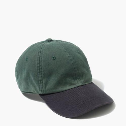 J. Crew Factory Green Navy Color-block Baseball Cap, One Siz