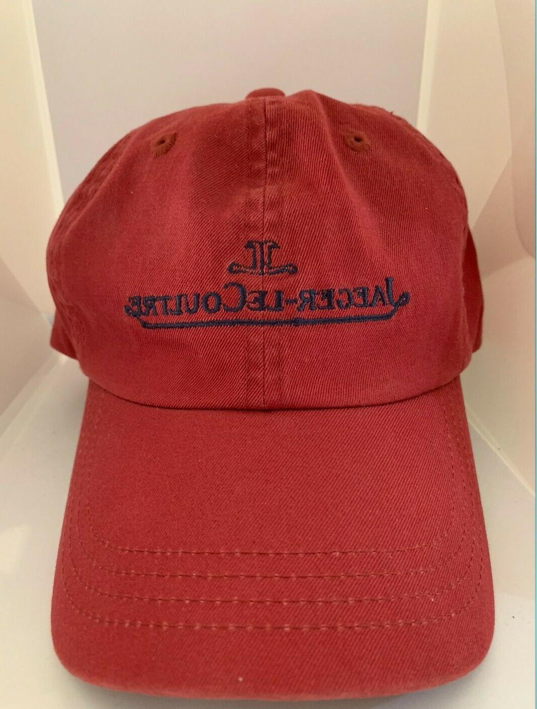 jaeger lecoultre red boutique baseball cap