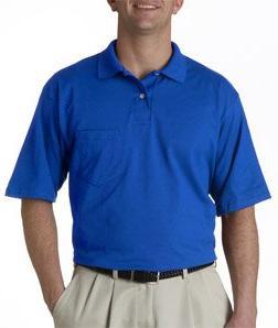 Jerzees Men's SpotShield Jersey Pocket Polo