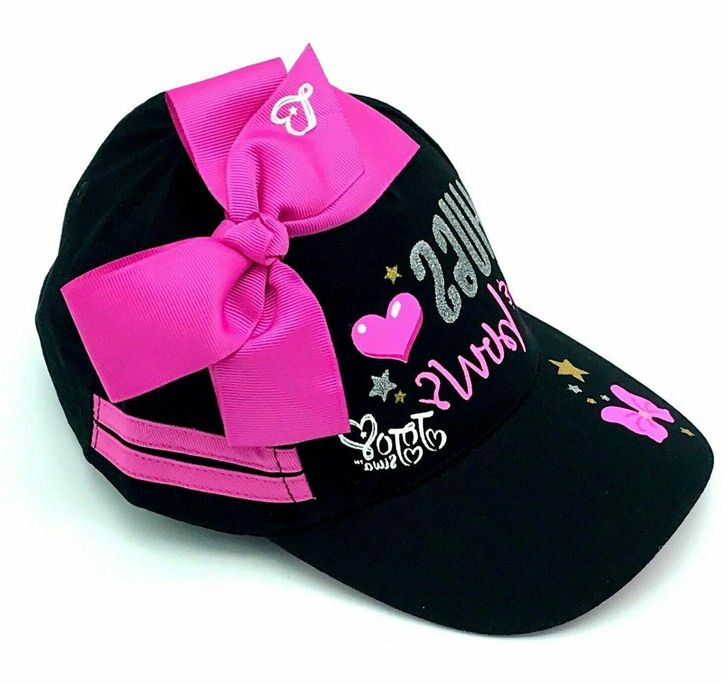 JoJo Siwa Black Girls Baseball Cap Bow