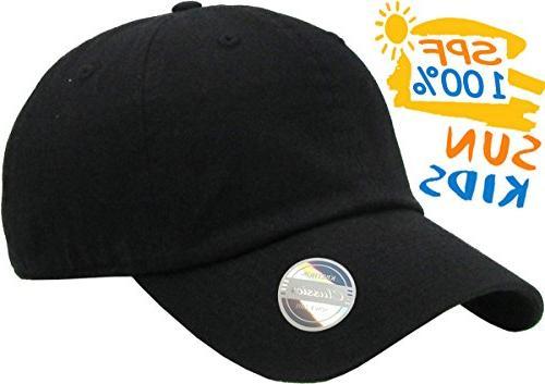 KBC-13LOW Girls Hats Washed Profile Plain Cap Hat Unisex