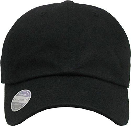 KBC-13LOW BLK Kids Girls Hats Washed Plain Baseball Unisex Headwear