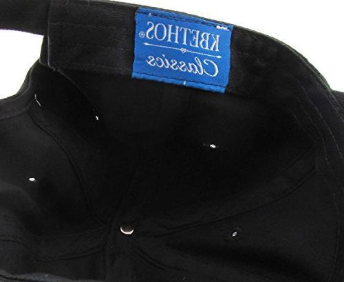 KBC-13LOW BLK Girls Hats Profile Cotton Denim Plain Cap Hat Unisex Headwear