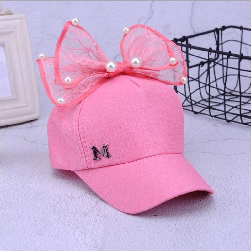 kids girls baseball cap lovely adjustable net