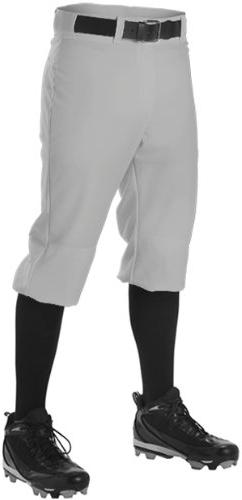 Alleson Youth Knicker Baseball Pant , Gray, L