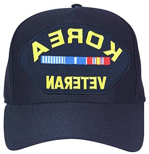 korea veteran with veteran ribbons baseball cap