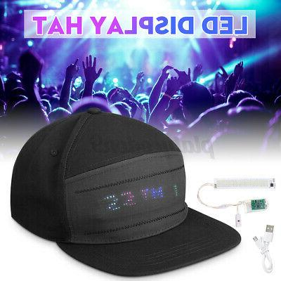 led display baseball cap cool hat screen