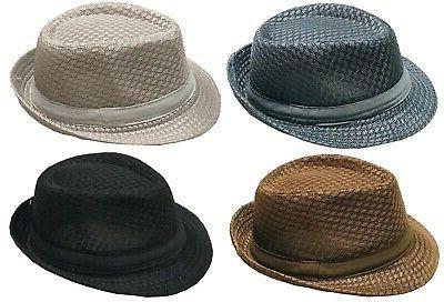 light weight mesh fedora hat soft cool