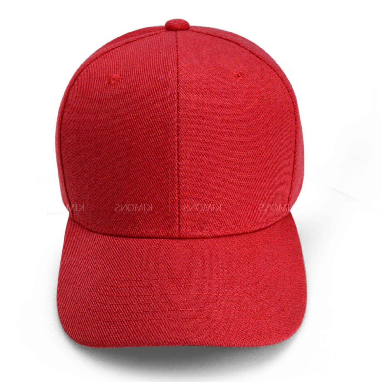 Plain Baseball Cap Color Blank Curved Visor