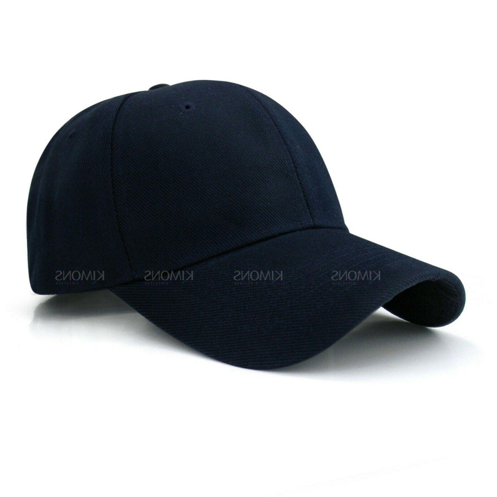 Plain Cap Solid Color Curved Hat Women