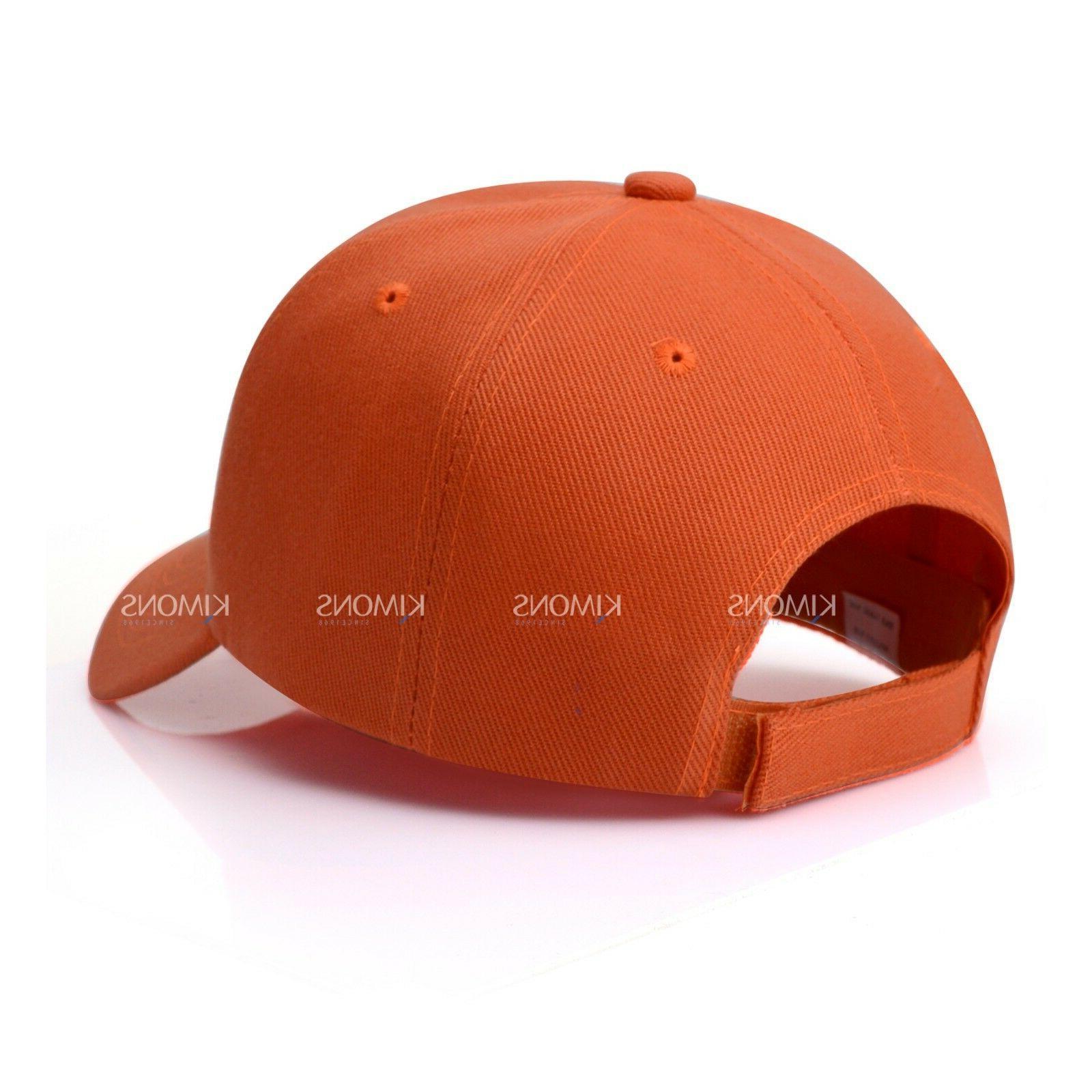 Hook-N-Loop Solid Color Blank Hat Adjustable