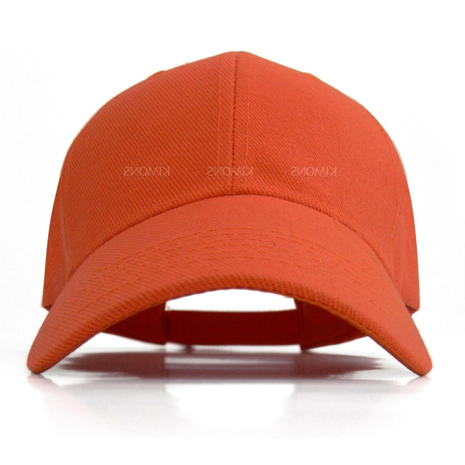 Plain Baseball Color Hat Women