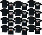 Major League Baseball Team Logos Men's Black T-Shirts Sizes