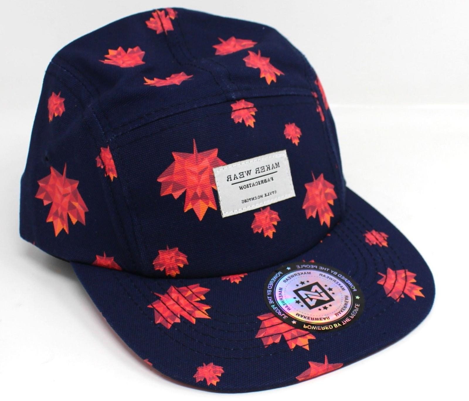 maple leaf 5 panel baseball hat cap