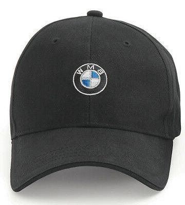 BMW Men's Baseball Cap, Roundel Logo Hat, 6 Panel Cotton Twi