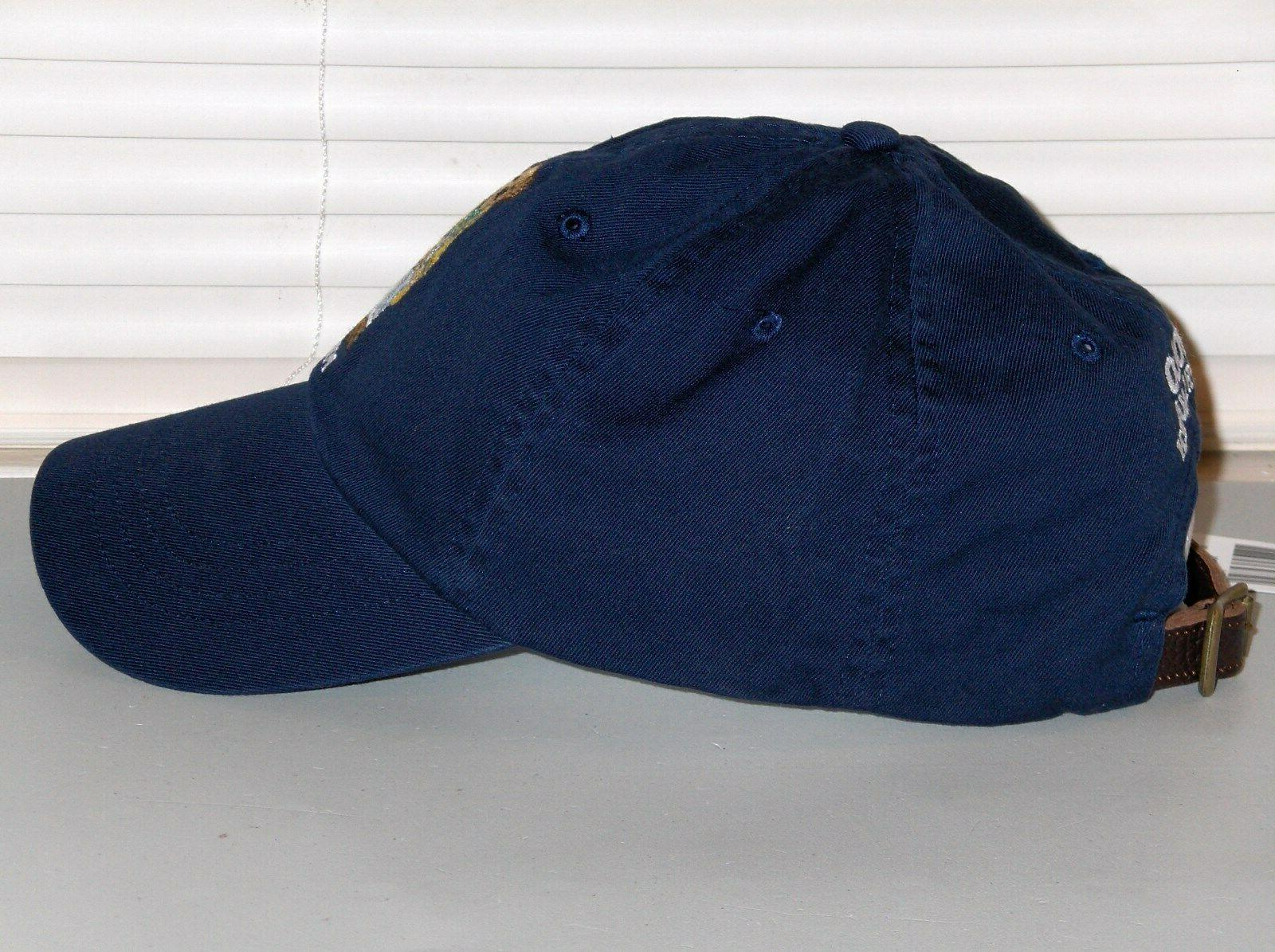 POLO RALPH LAUREN Raincoat Hat, LEATHER Navy Blue