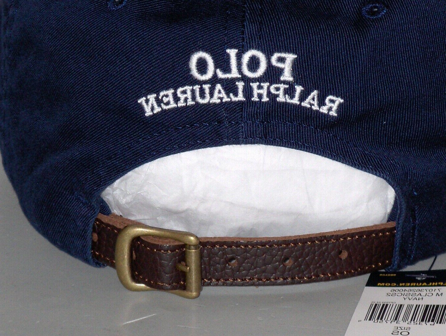 POLO RALPH Raincoat Bear Baseball Hat, Blue