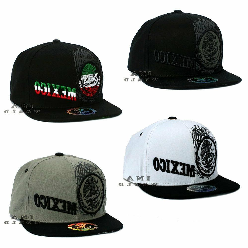 mexican mexico hat federal logo embroidered snapback