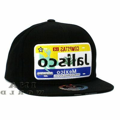 MEXICO hat State License Plate Snapback Flat bill Black Base