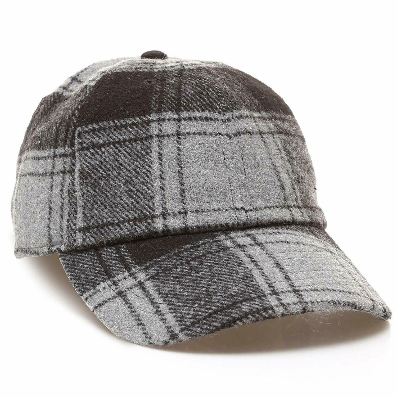 MIRMARU Men's Wool Blend Baseball Cap Adjustable Size Strap