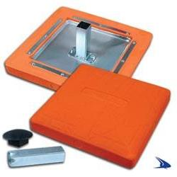 "Pro Style Molded Optic Orange Baseball Safety Base- 15"" x 15"