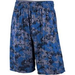A4 N5322 10 in. Adult Printed Camo Performance Short - Royal