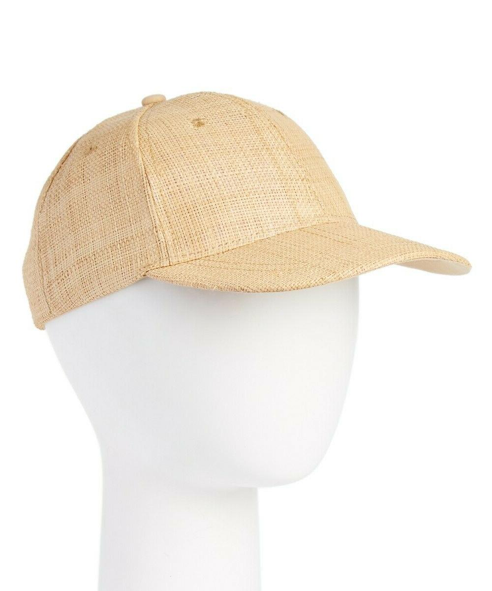 natural raffia straw trucker hat adjustable baseball