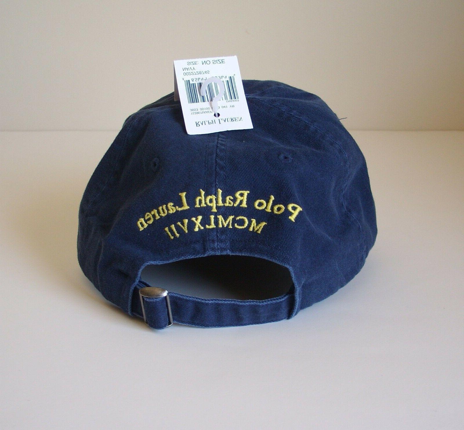 NEW Ralph Lauren Baseball Cap Hat Big Pony Adjustable Colors