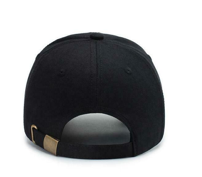 New Hat Snapback Embroidery Black White
