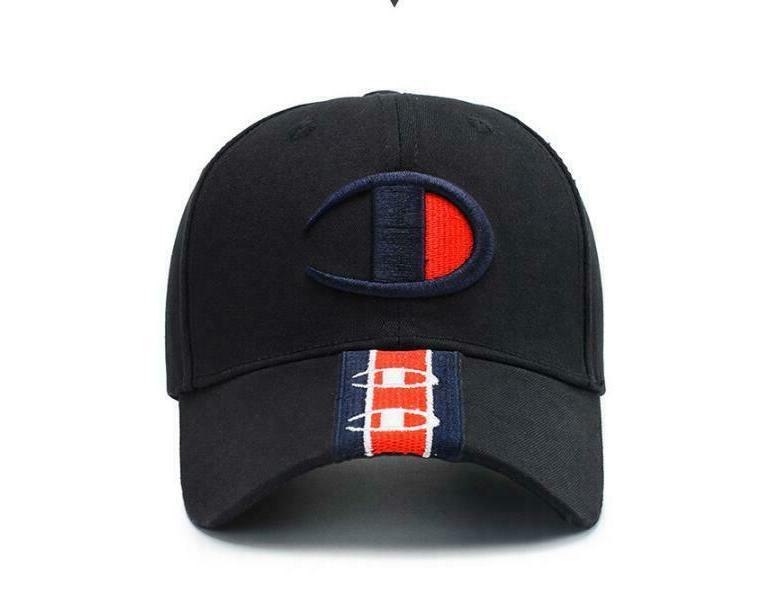 New Champion Hat Sport Snapback Embroidery Black