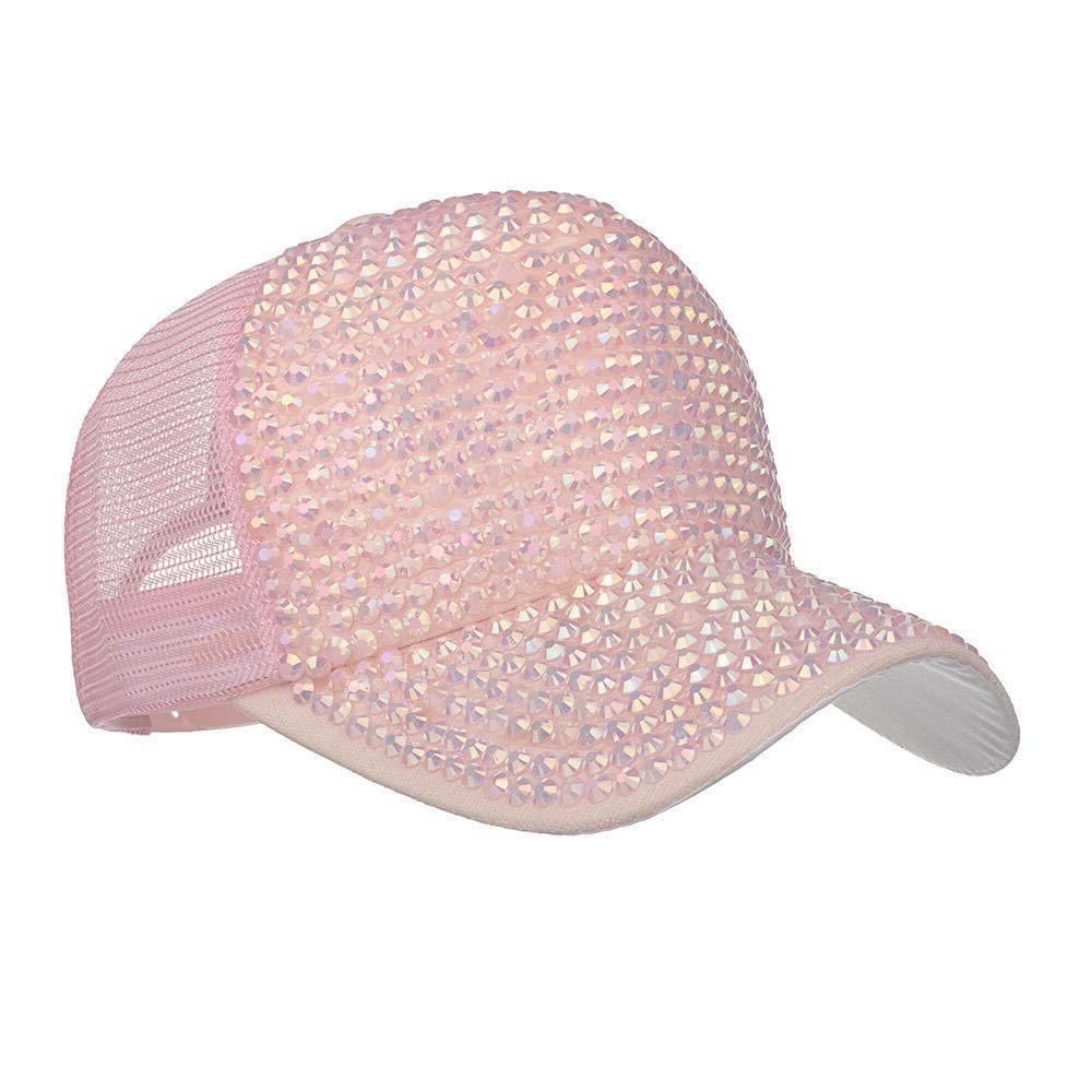 NEW Fashion Womens Rhinestone Hats Female Cap Diamond Hats