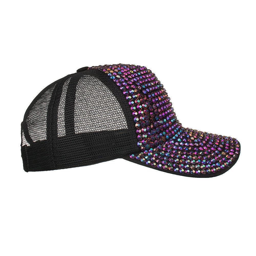 Rhinestone Hats Female Cap