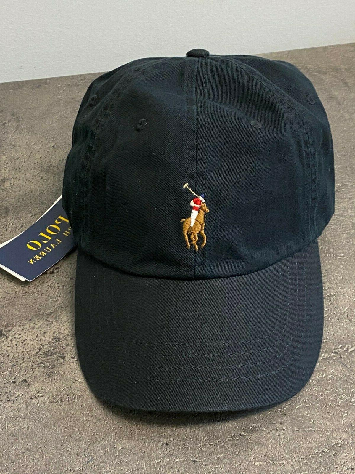 NEW Polo Multi Color Brown Chino Cap Hat Black