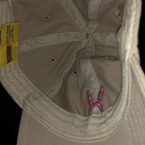 NEW Burgers Baseball Hat Cap Character Ear Tan