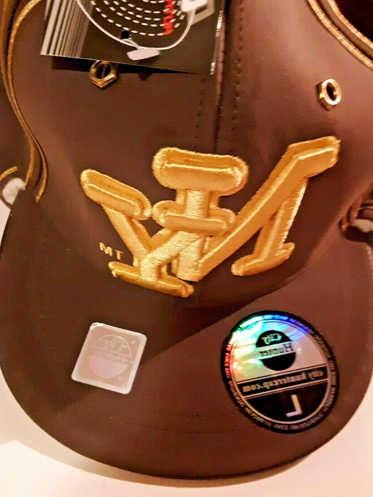 NEW City NY Baseball HAT Fitted Brown with ear flaps
