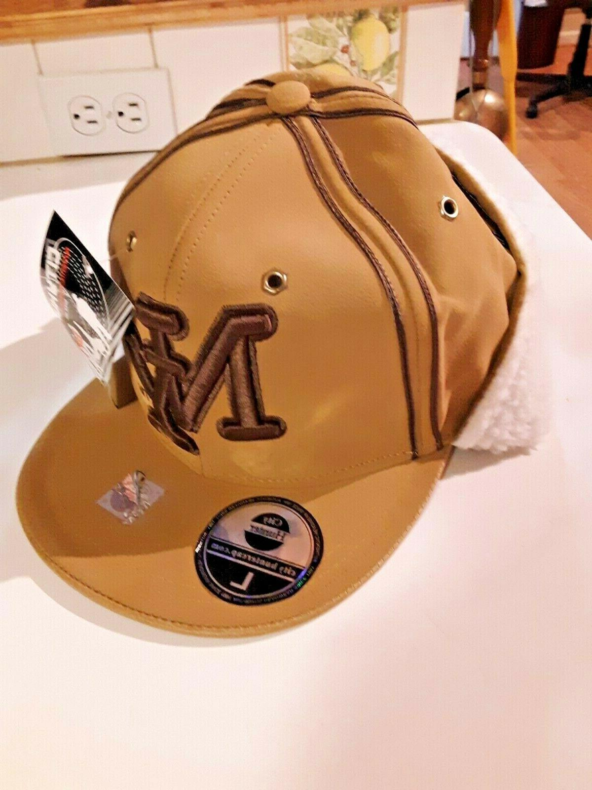 new ny baseball hat fitted lg brown