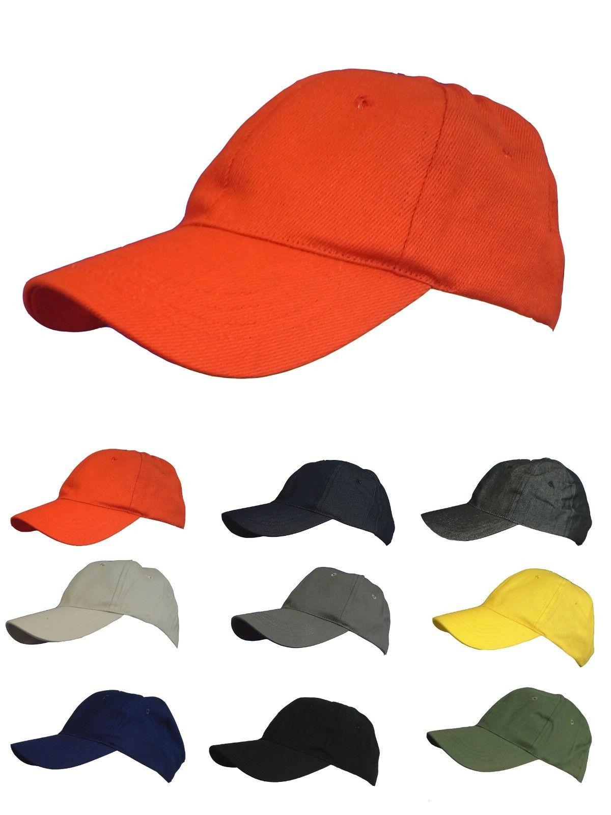 Masraze Plain Cotton Baseball Men/Women Hat Hats Adjustable