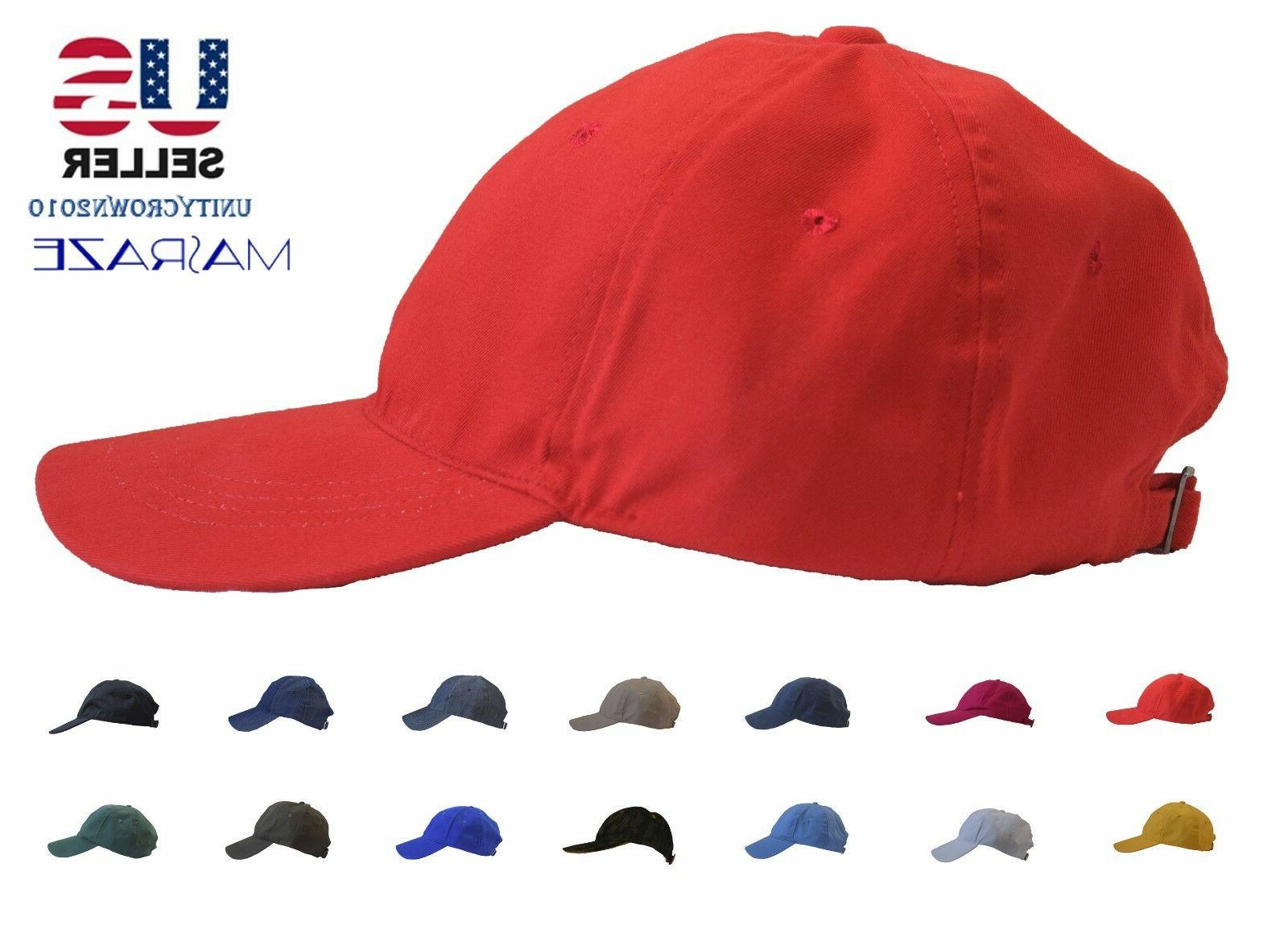 Masraze Plain Solid Cotton Baseball Men/Women Hat