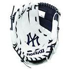 NEW YORK YANKEES Left Handed T-BALL BASEBALL GLOVE White Blu