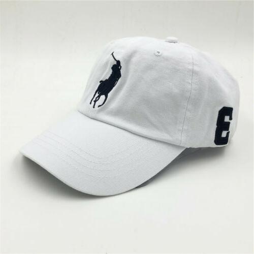 POLO Pony Cap 100% Hat Adjustable Size