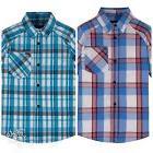 NWT Boy's Hurley Plaid Short Sleeve Button-Down Shirt