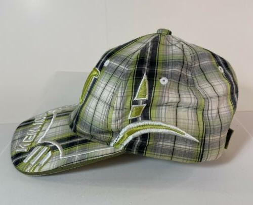 NY New City Hunter Green Plaid Hat Adjustable Rare