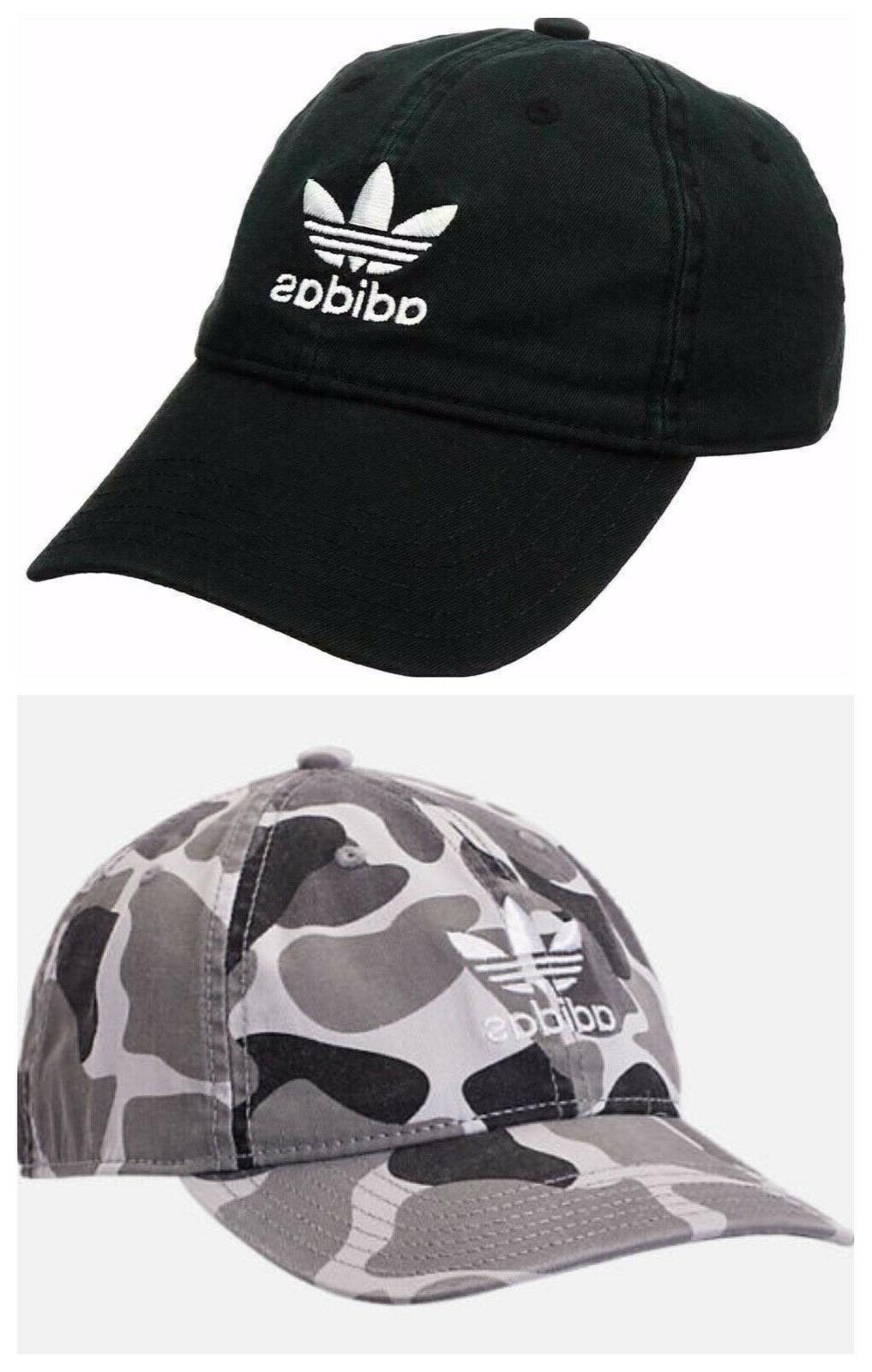 Adidas Mens Strapback 100% Black Camo Cap