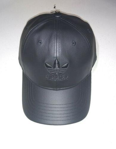 adidas Pu Leather Strapback Black, One
