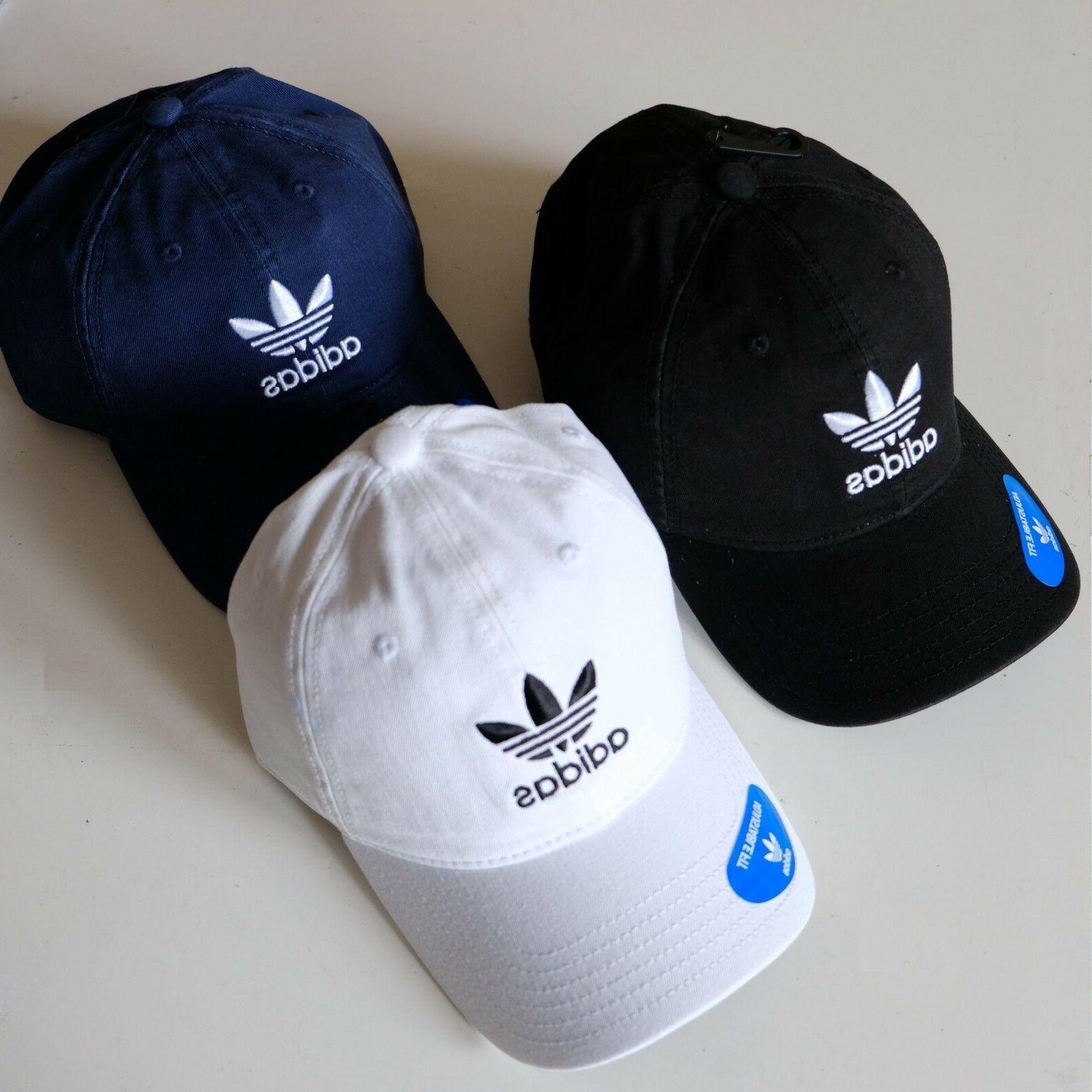 originals relaxed trefoil logo cap strap back