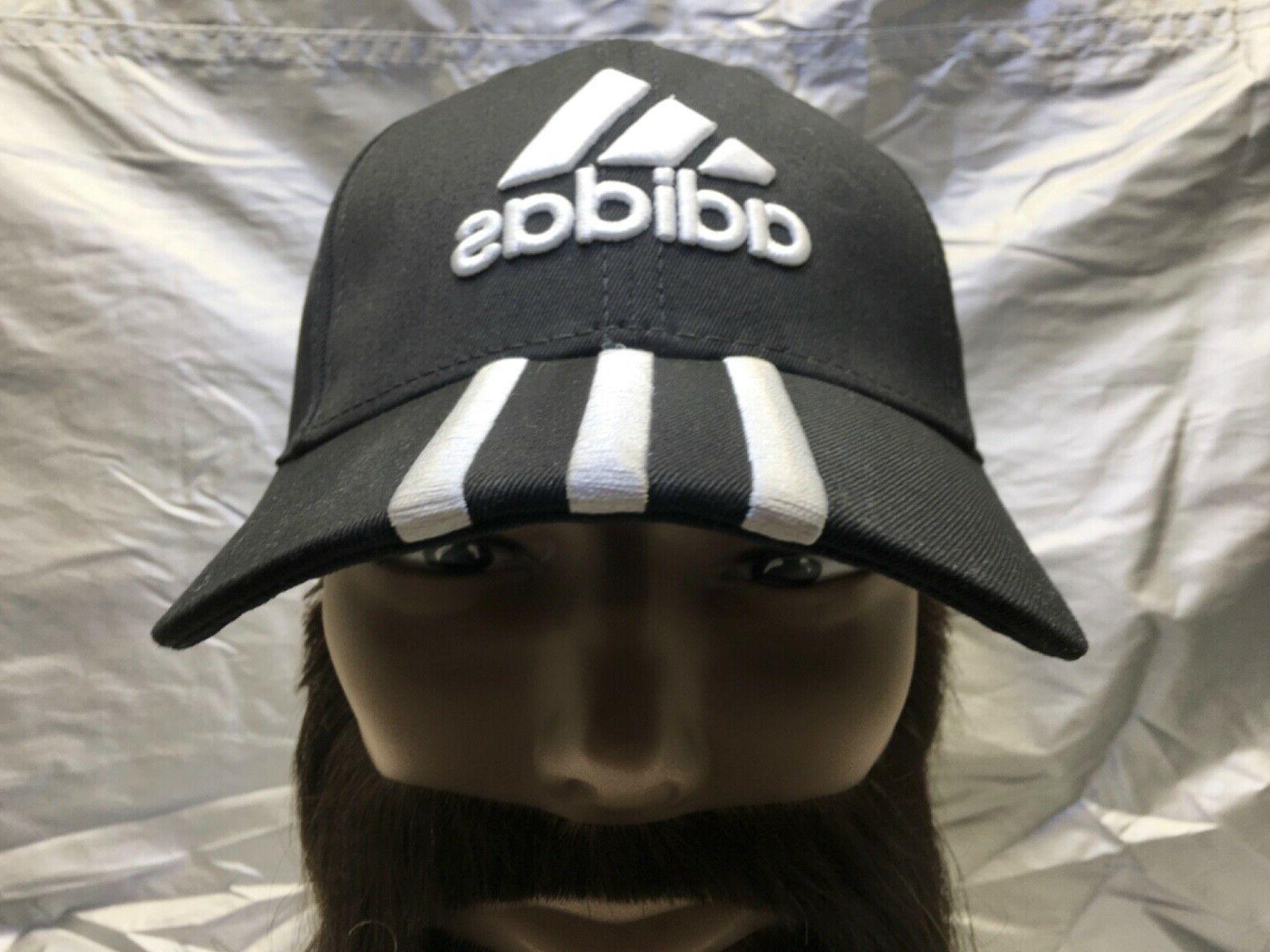 ADIDAS Originals Strapback Baseball Cap Black w/White Embroi