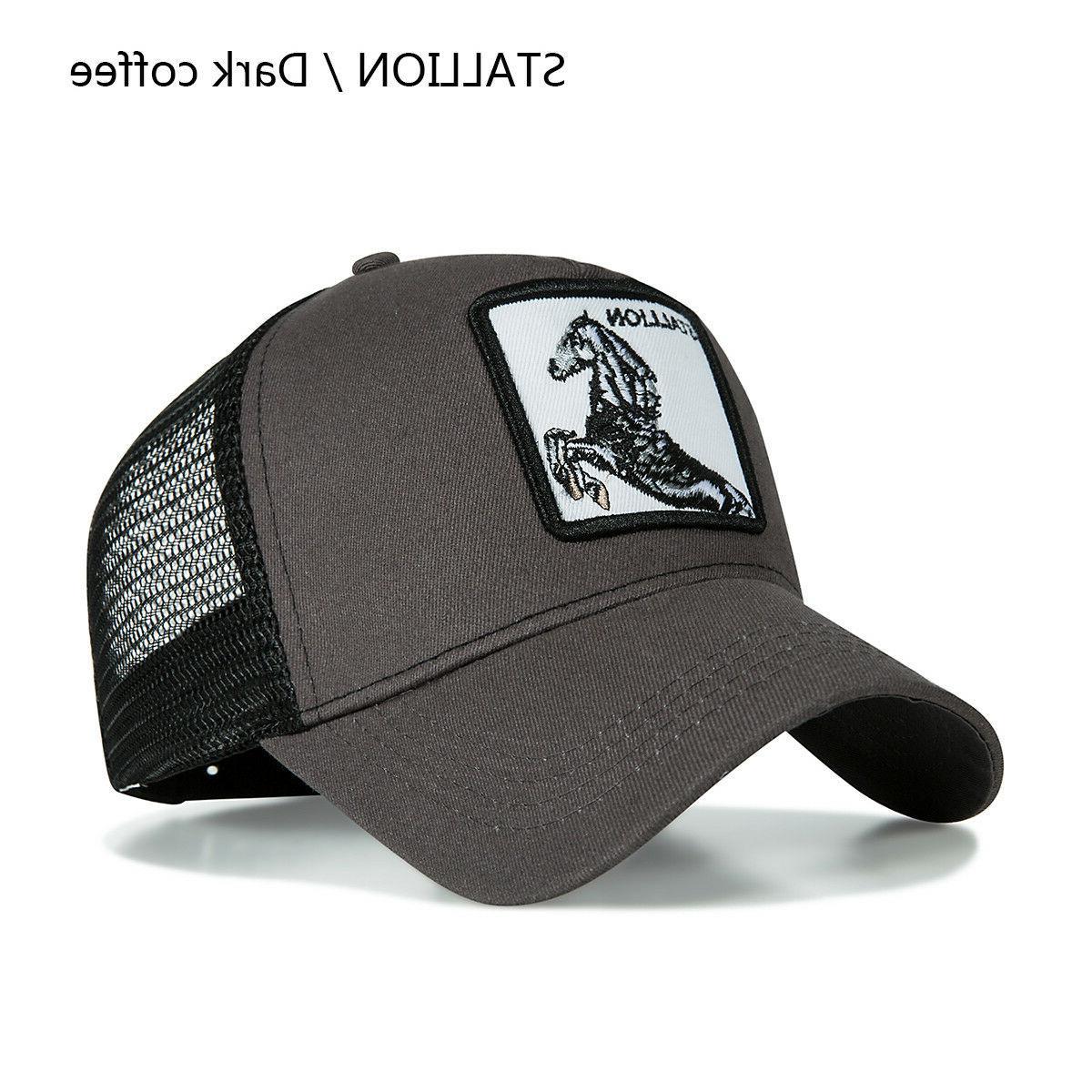 Personality Animal Embroidery Pattern Fashion Hats