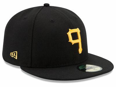 pittsburgh pirates game 59fifty fitted hat black